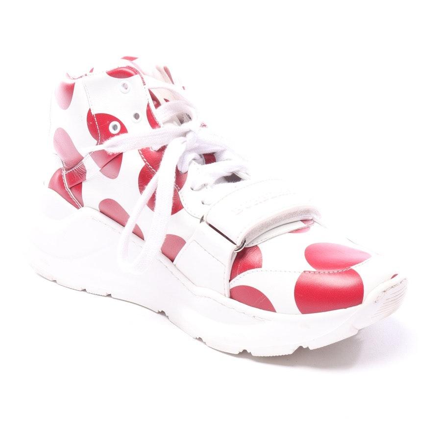 High-Top Sneaker von Burberry in Weiß und Rot Gr. EUR 40