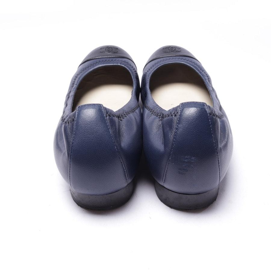Ballerinas von Chanel in Blau und Schwarz Gr. EUR 37,5