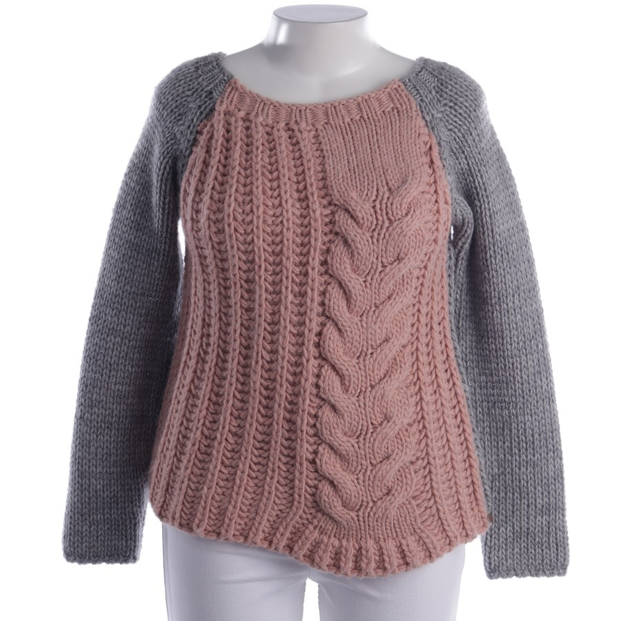 knitwear from Rich & Royal in grey and pink size L