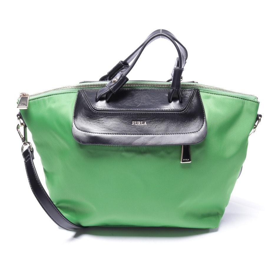 Handtasche von Furla in Apfelgrün und Schwarz