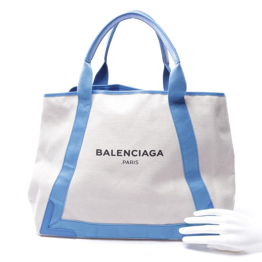 Shopper von Balenciaga in Beige und Blau