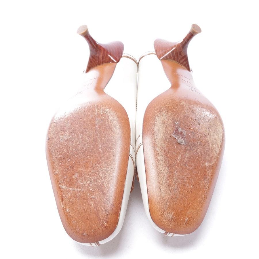 Pumps von Louis Vuitton in Creme und Braun Gr. EUR 37,5