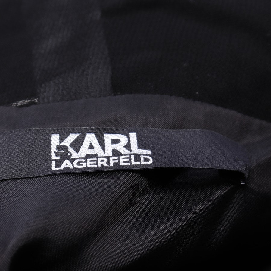 Kleid von Karl Lagerfeld in Nachtblau und Schwarz Gr. 34 IT 40