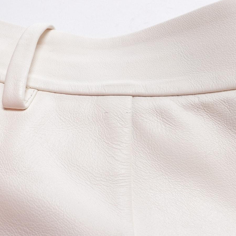 Ledershorts von Valentino in Weiß Gr. 36 IT 42 - Neu