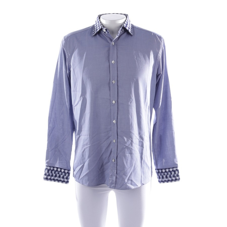 casual shirt from Etro in blue and white size 39-40