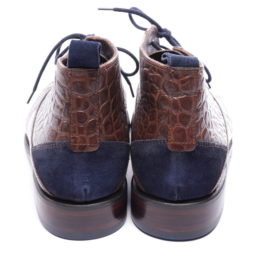 loafers from Floris van Bommel in brown and blue size EUR 40 UK 6,5 - new