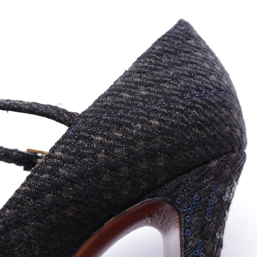 Mary Janes von Louis Vuitton in Schwarz und Blau Gr. EUR 37,5