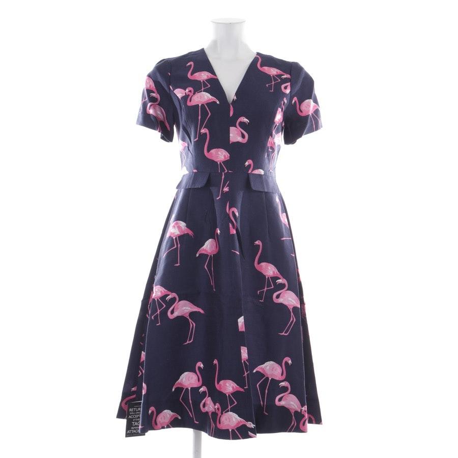 Kleid von Draper James Net-A-Porter in Nachtblau und Multicolor Gr. 30 US 0 - Neu