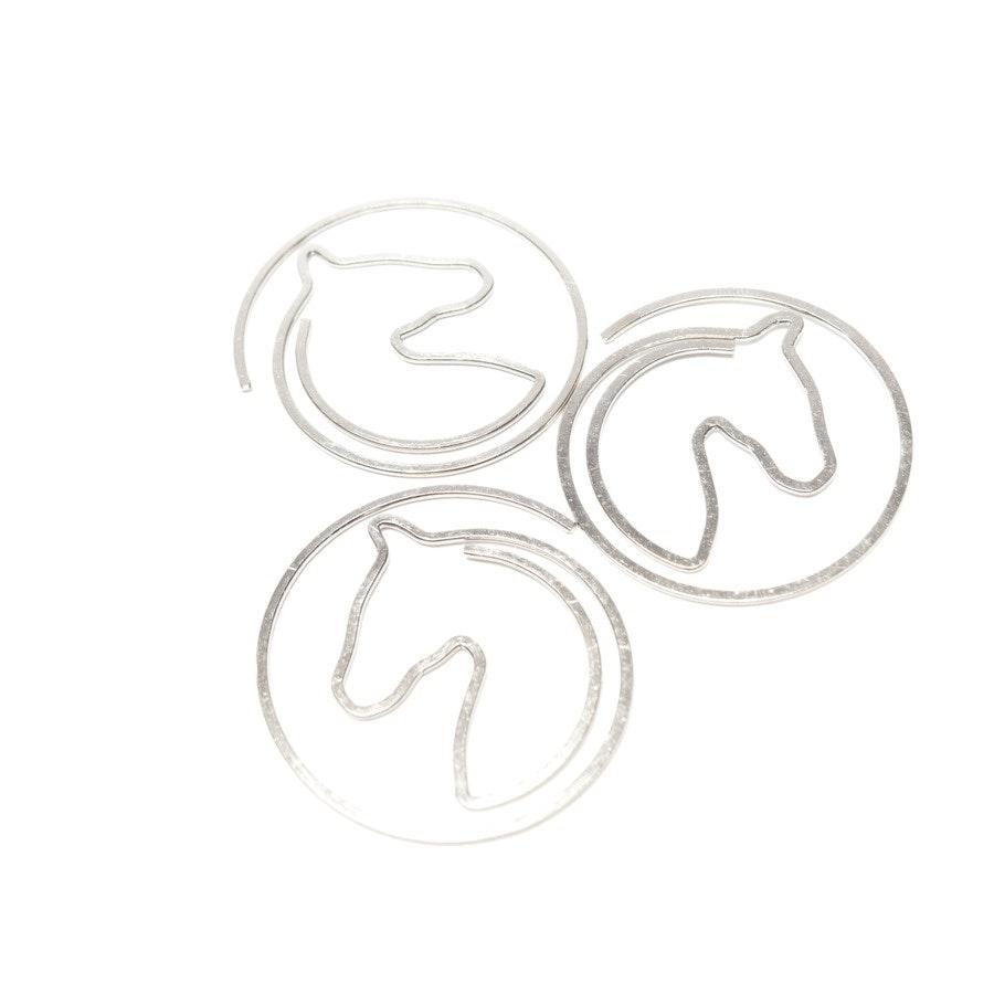 20 Büroklammern von Hermès in Silber