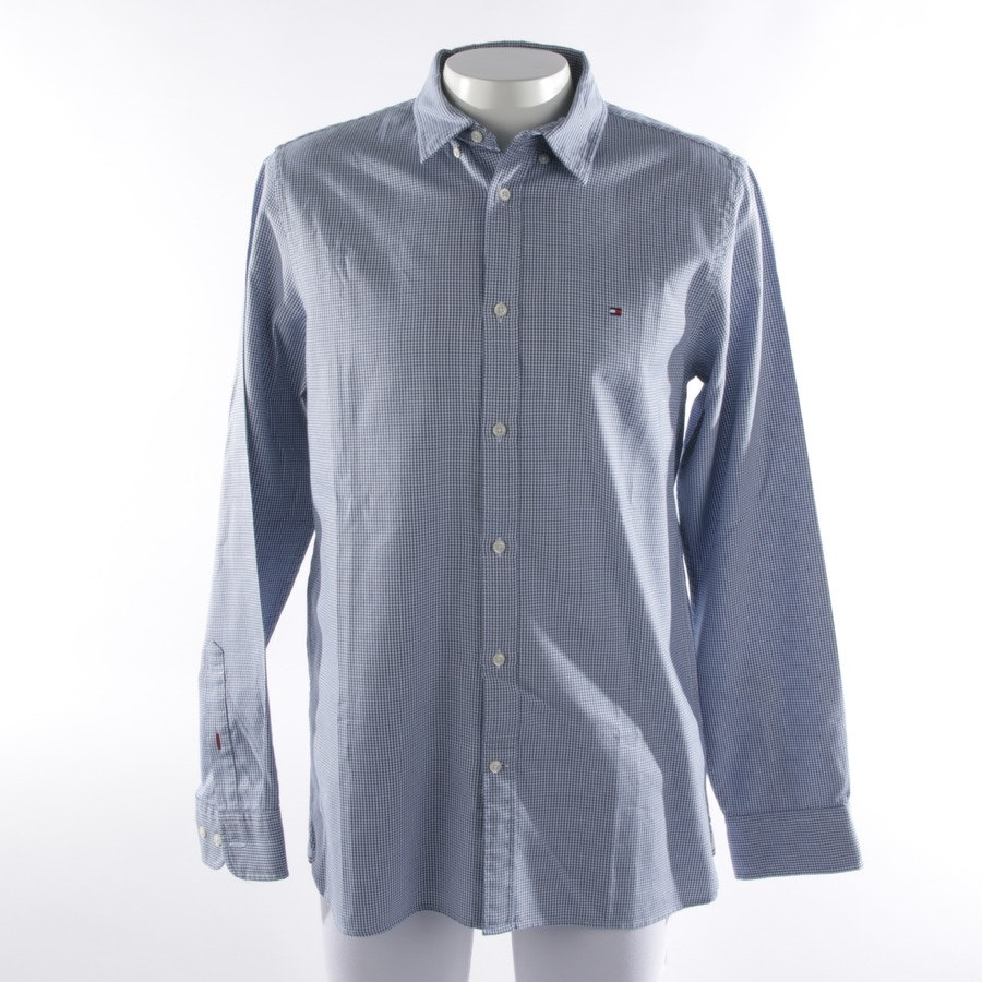 business shirt from Tommy Hilfiger in blue mottled size L
