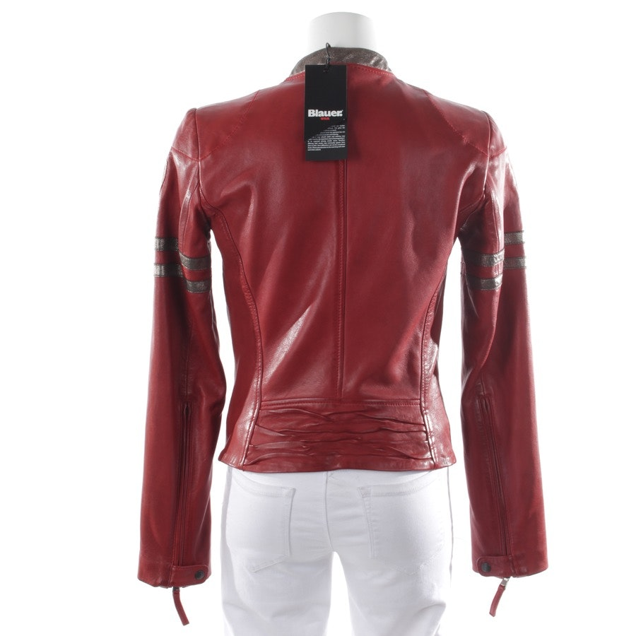 leather jacket from Blauer USA in red size S - new label