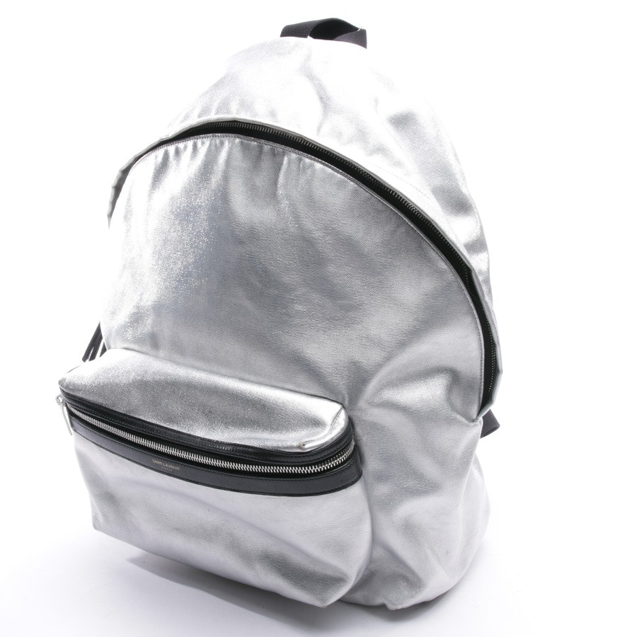 backpack from Saint Laurent in silver and black