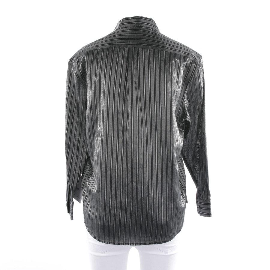 Bluse von Saint Laurent in Schwarz und Silber Gr. 34 FR 36 - Neu