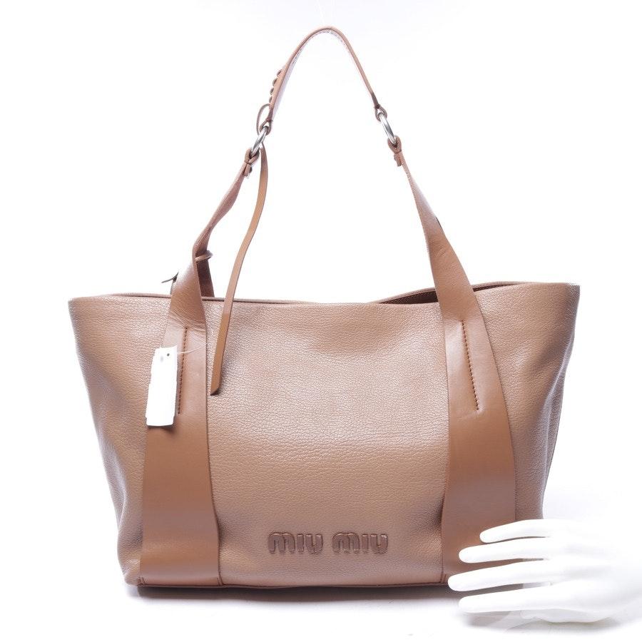 shopper from Miu Miu in brown