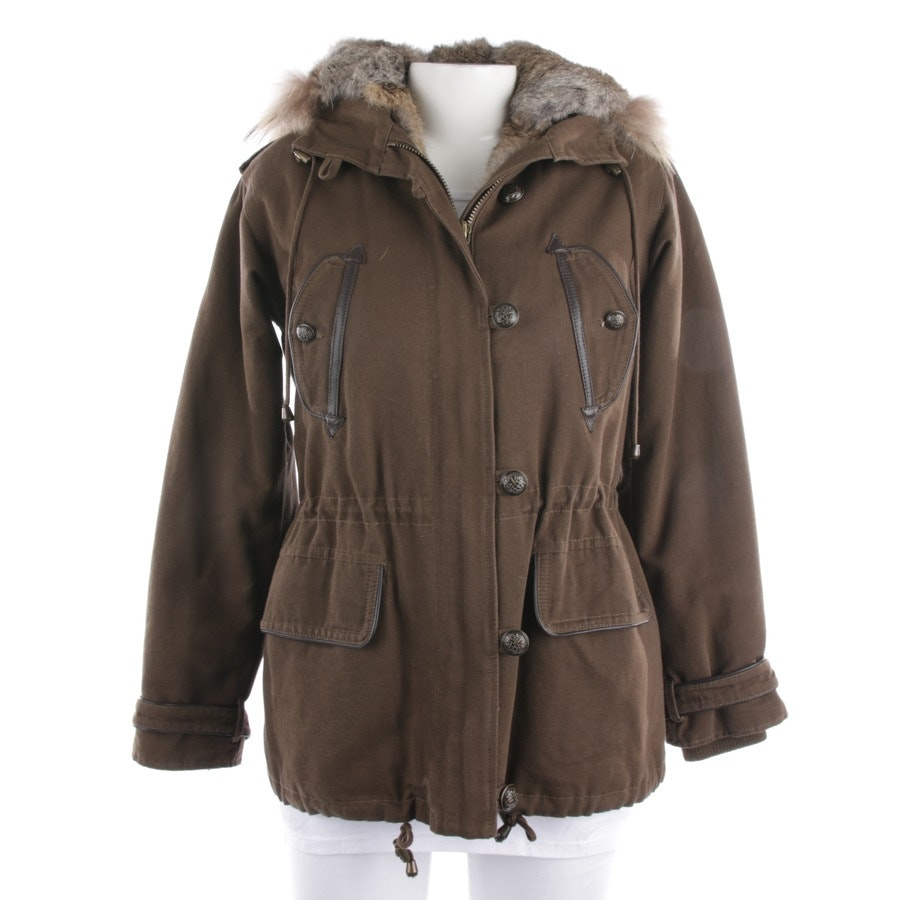 winter coat from Sandro in green-brown size 34 / 1