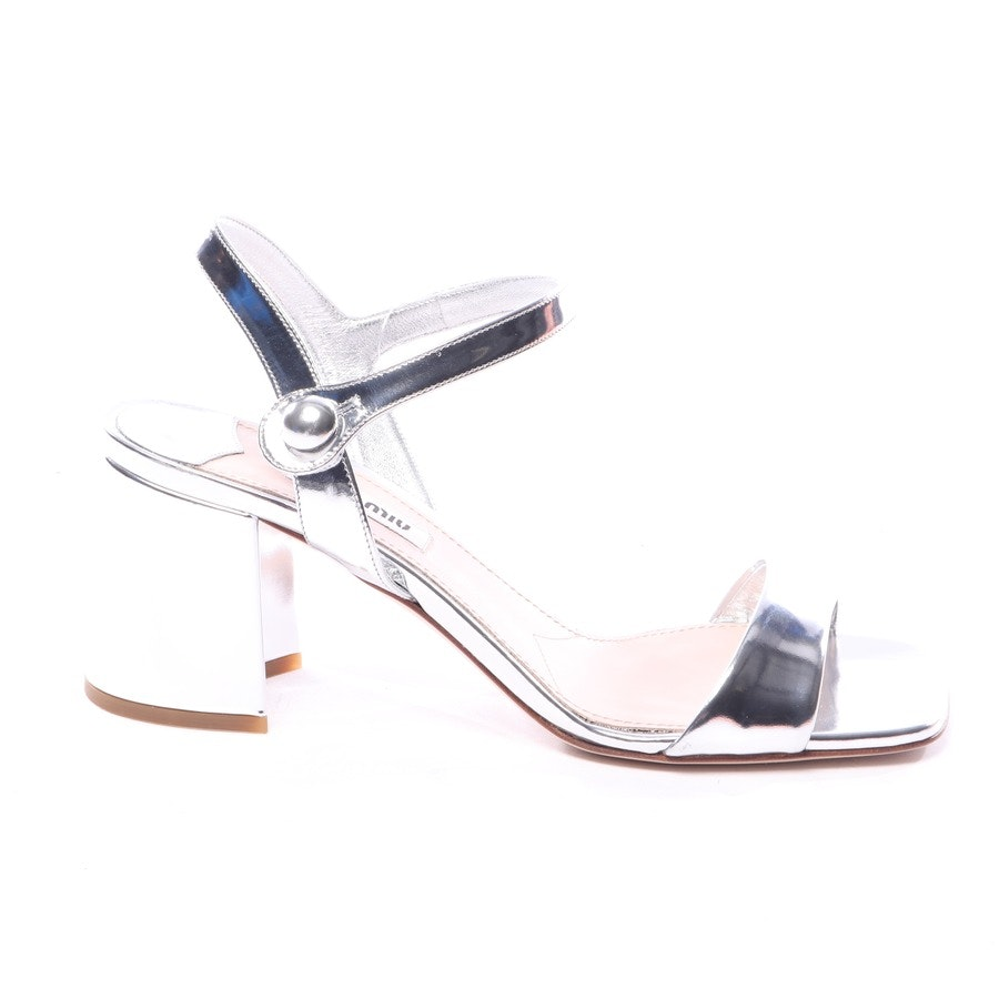 heeled sandals from Miu Miu in silver size EUR 38 - new
