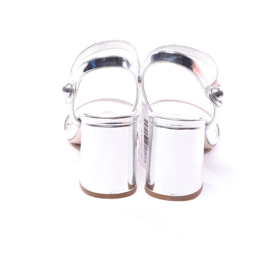 Sandaletten von Miu Miu in Silber Gr. EUR 38 - Neu
