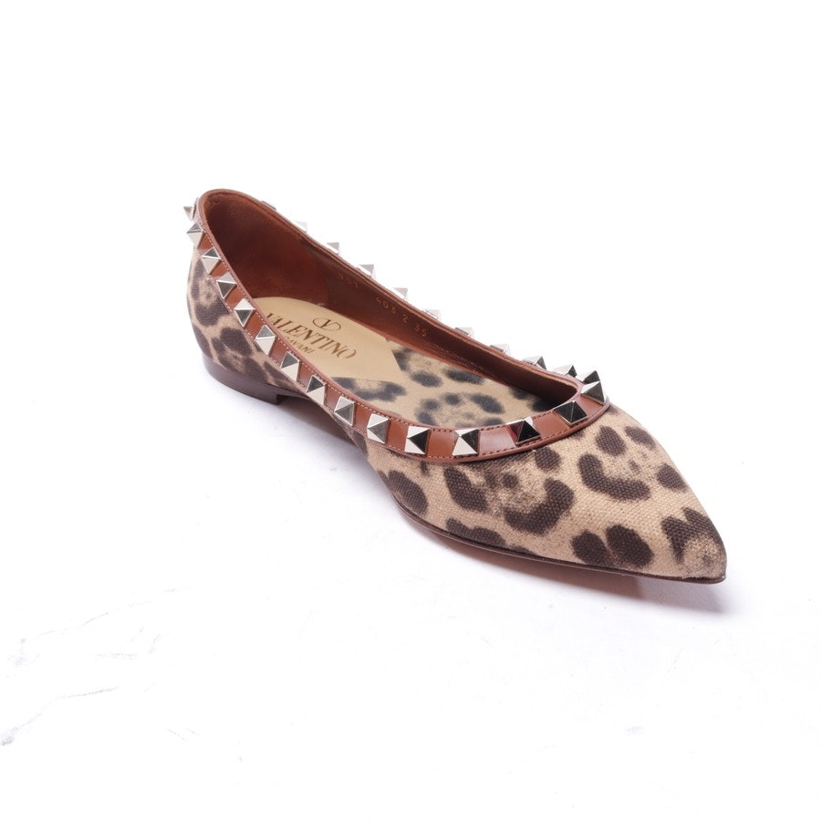 loafers from Valentino in brown and beige size EUR 35 - rockstud - new
