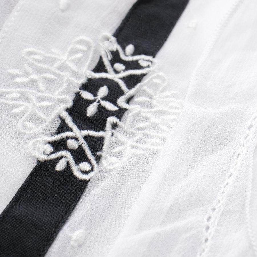 Bluse von High Use in Weiß und Schwarz Gr. 34