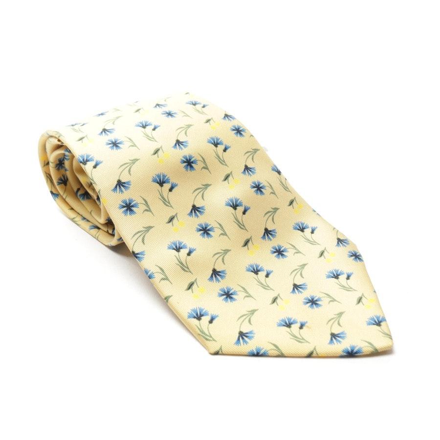 Seidenkrawatte von Hermès in Gelb und Blau