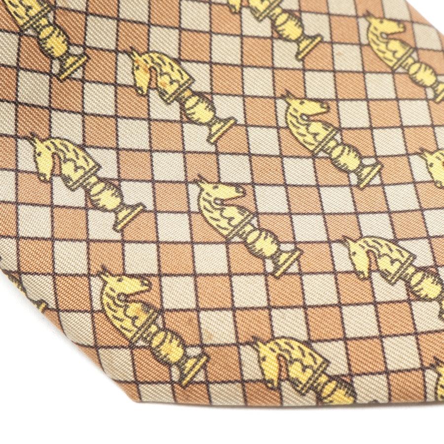 Seidenkrawatte von Hermès in Gold