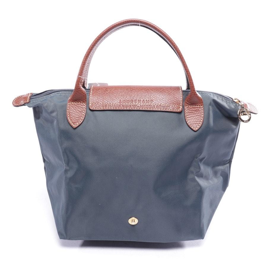 Handtasche von Longchamp in Waldgrün und Braun - Le Pliage S