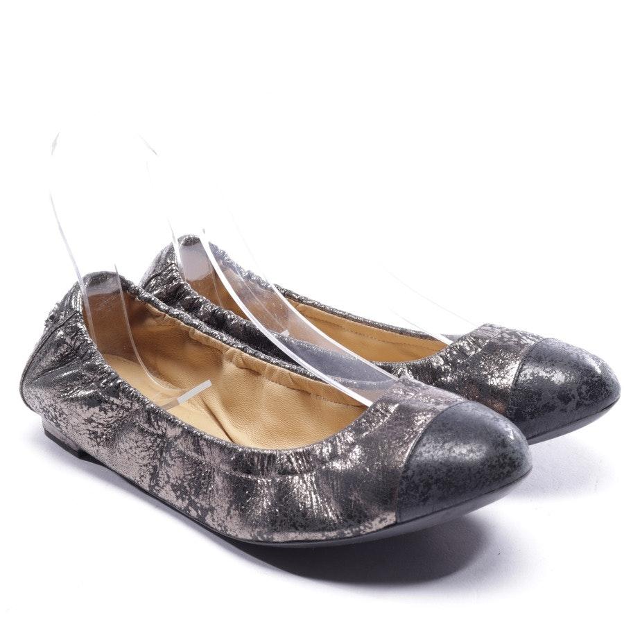 Ballerinas von Chanel in Silber und Schwarz Gr. EUR 36,5