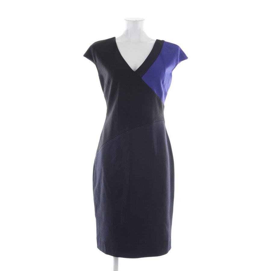 Kleid von Diane von Furstenberg in Blau und Schwarz Gr. 38 US 8