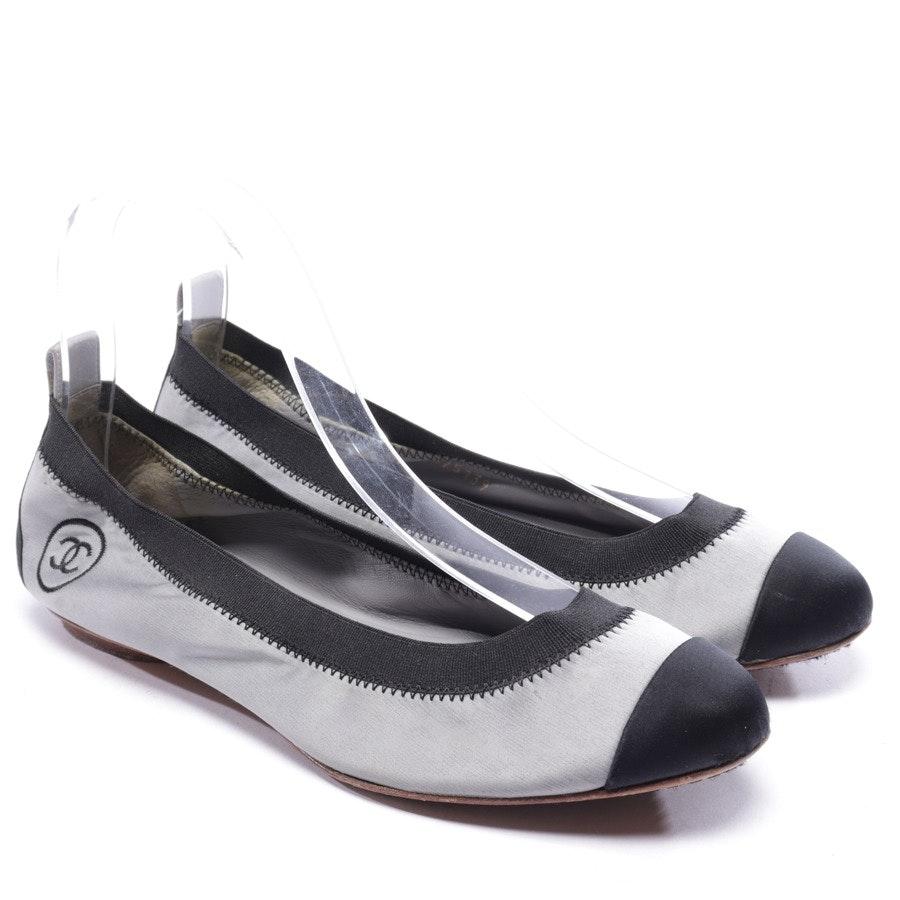 Ballerinas von Chanel in Grau und Schwarz Gr. EUR 36