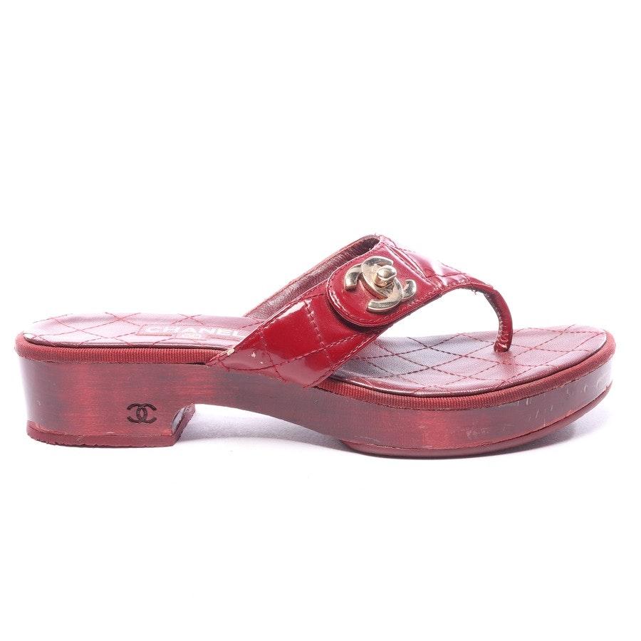 Sandaletten von Chanel in Rot Gr. EUR 37
