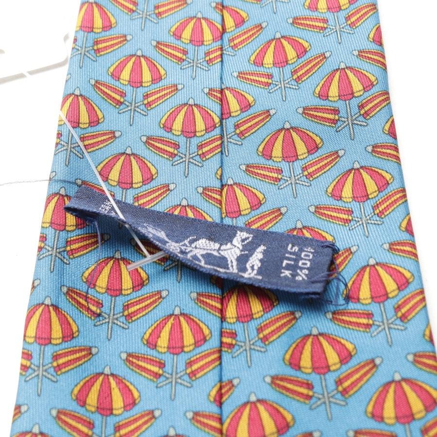 Seidenkrawatte von Hermès in Blau und Rot