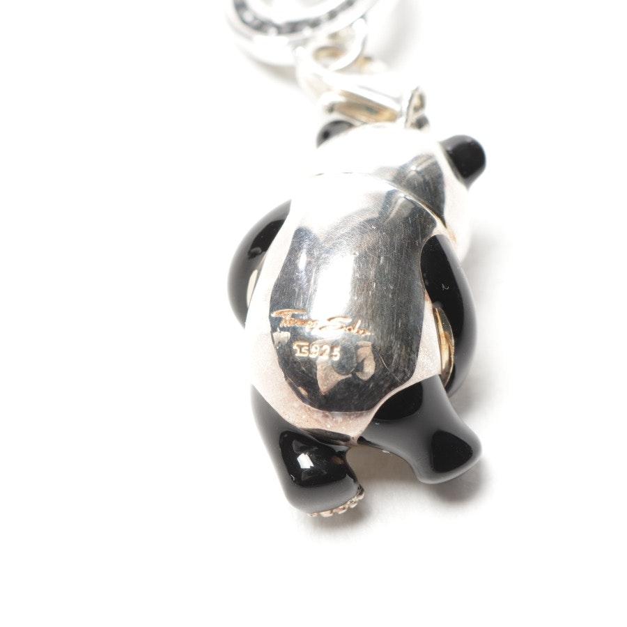 Charm von Thomas Sabo in Silber und Schwarz - 925er Sterling Silber