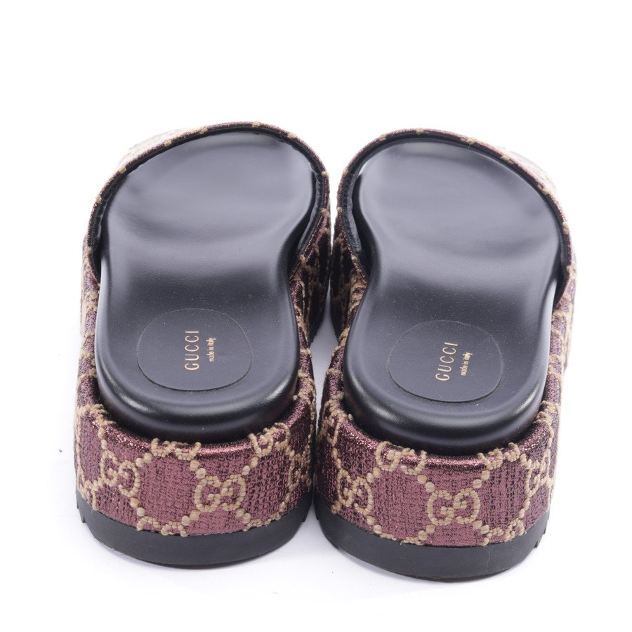flat sandals from Gucci in bordeaux and beige size EUR 40,5