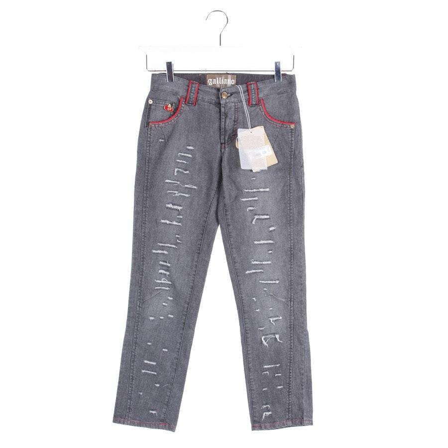 Jeans von John Galliano in Silber Gr. W24 - NEU!