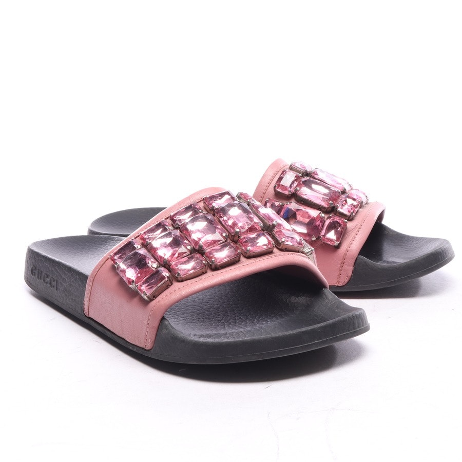 flat sandals from Gucci in black and pink size EUR 39