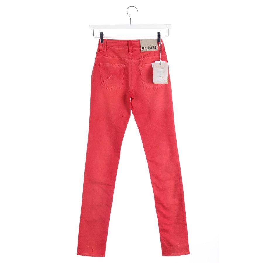 Jeans von John Galliano in Rot Gr. W24 - NEU!