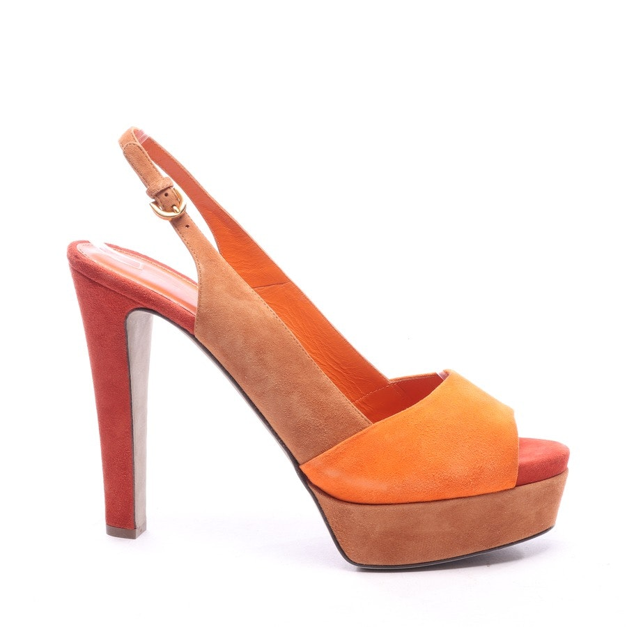 heeled sandals from Sergio Rossi in orange and beige size EUR 40