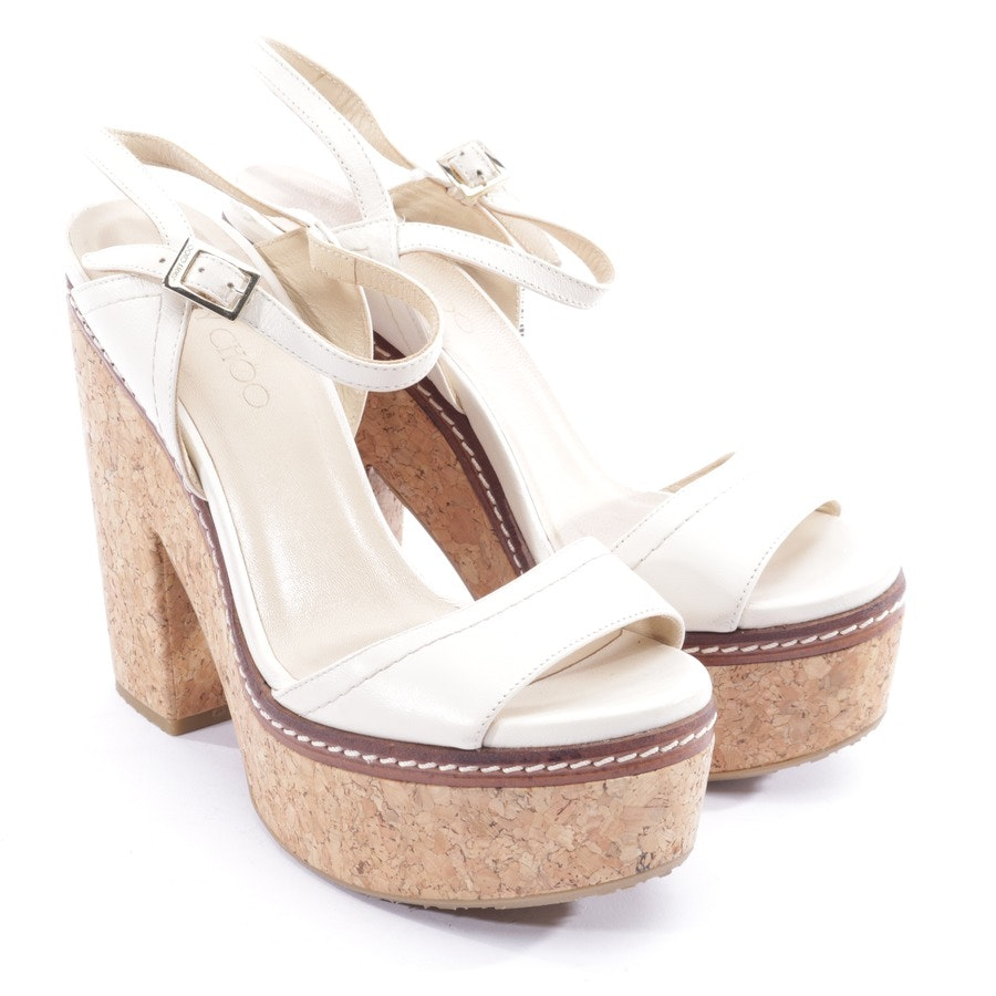 heeled sandals from Jimmy Choo in cream size EUR 40