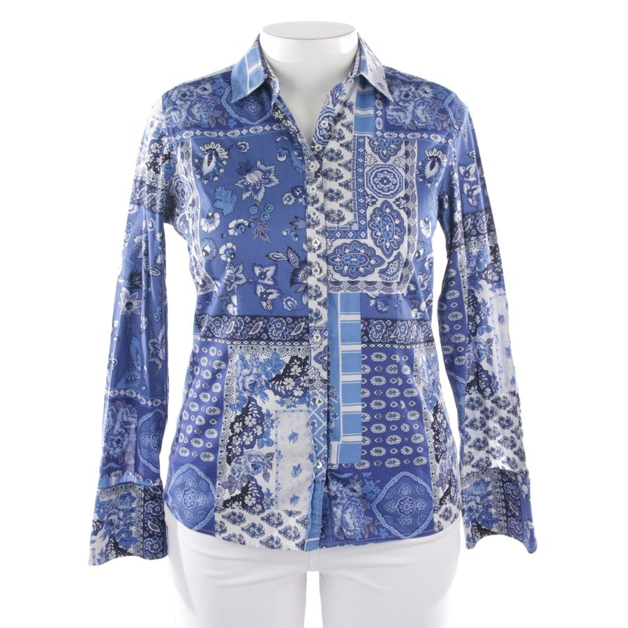 blouses & tunics from Van Laack in white and blue size 40