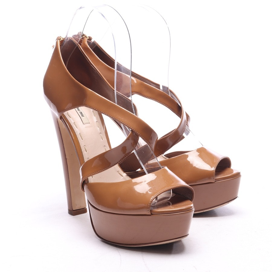 heeled sandals from Miu Miu in camel size EUR 38,5