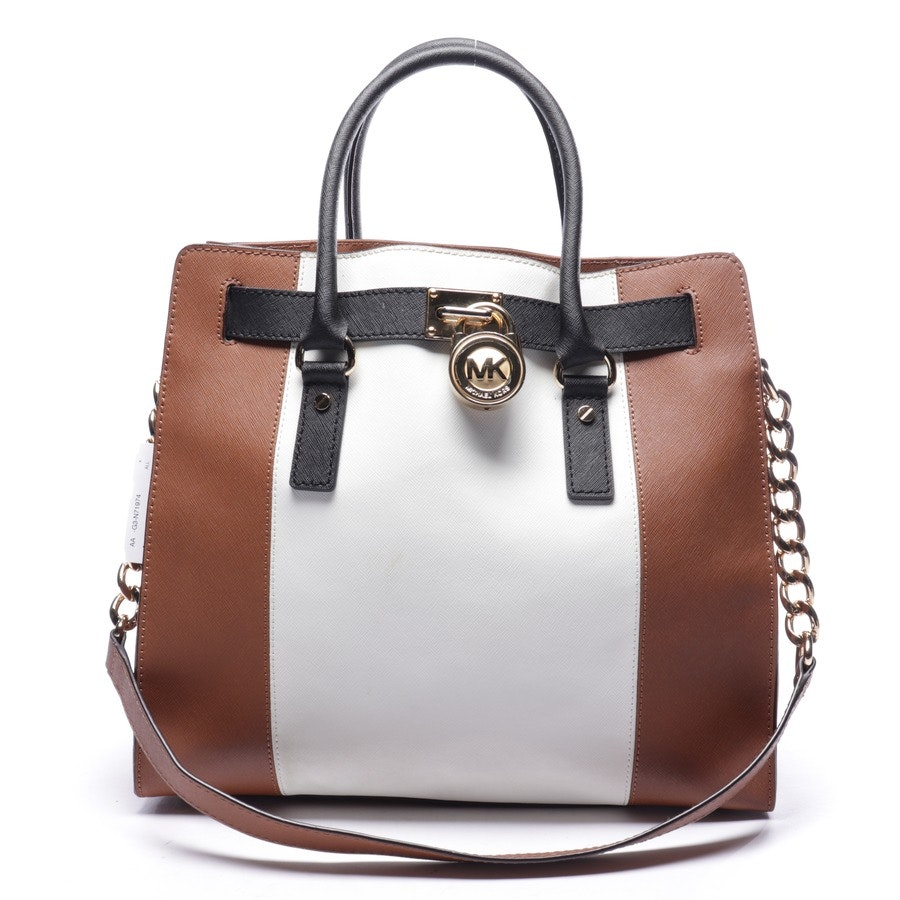 shoulder bag from Michael Kors in cognac and white