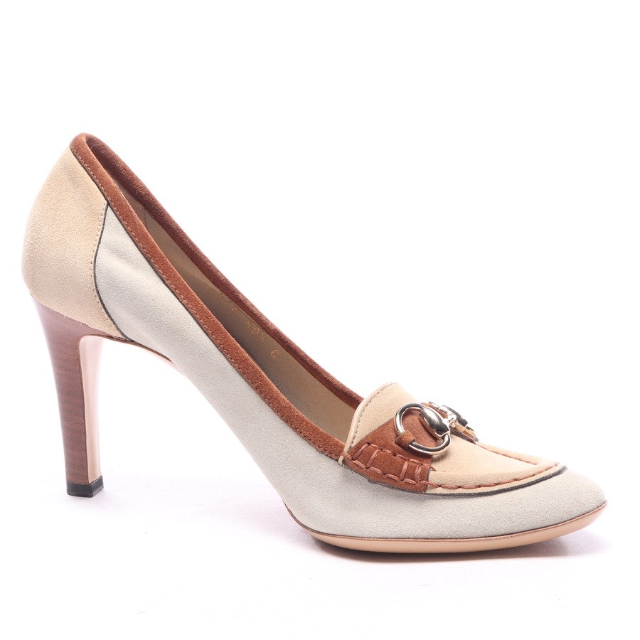 pumps from Gucci in light grey and brown size EUR 40,5
