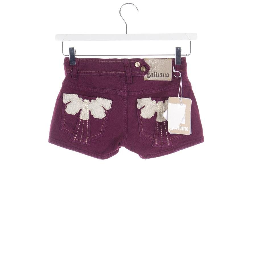 Shorts von John Galliano in Pflaume Gr. W25 - Neu