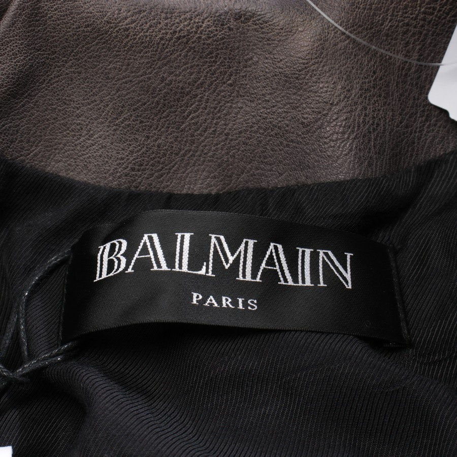 leather jacket from Balmain in grey size 38 FR 40