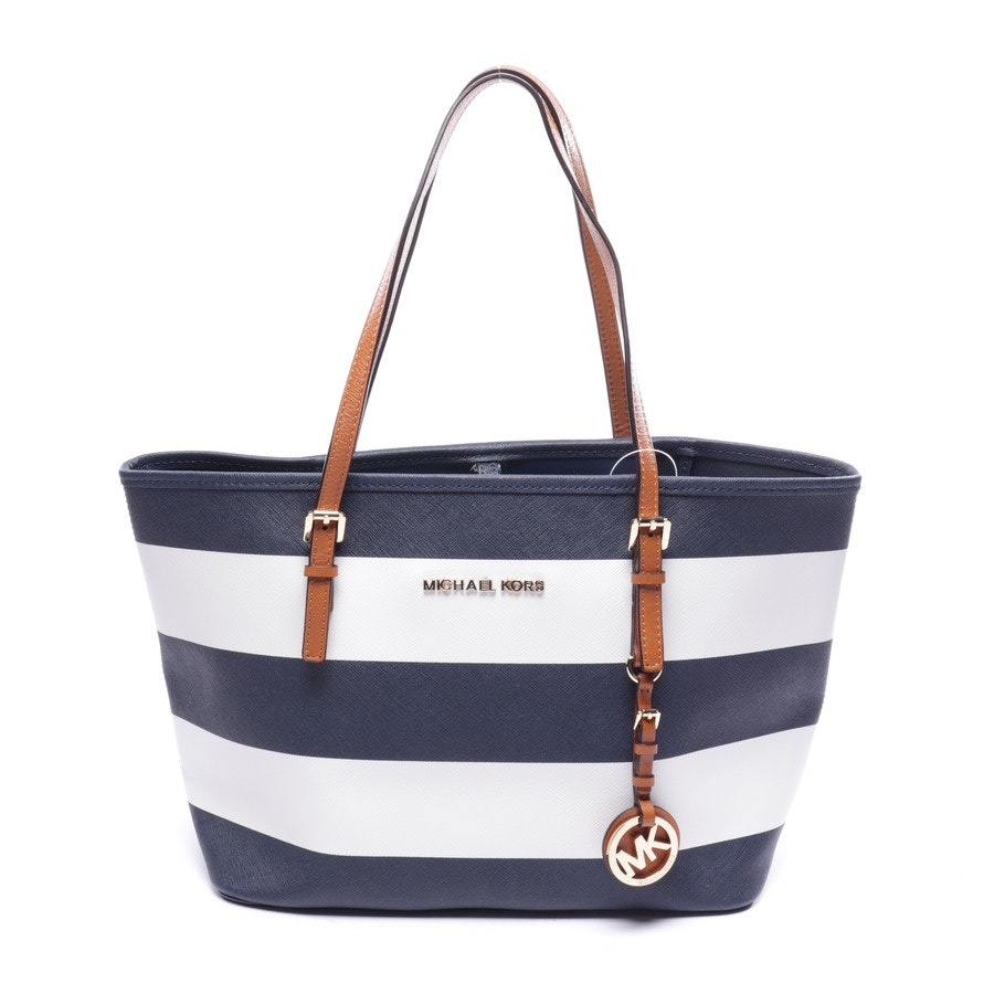 shopper from Michael Kors in dark blue and white