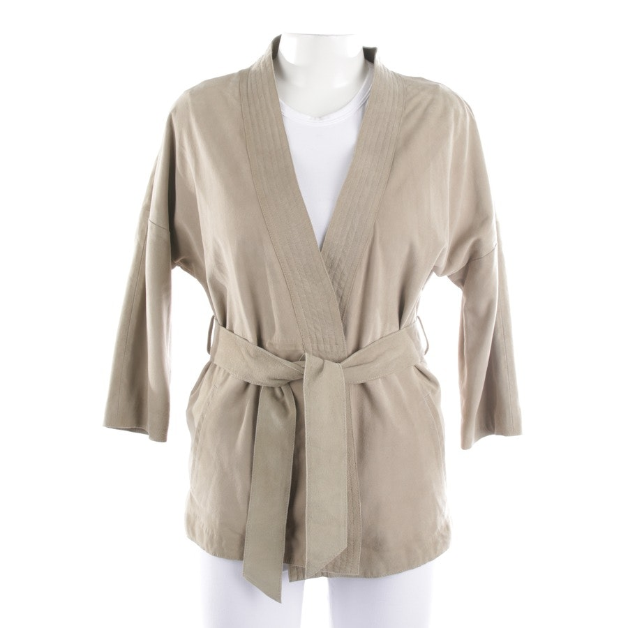 leather jacket from Drykorn in beige grey size S