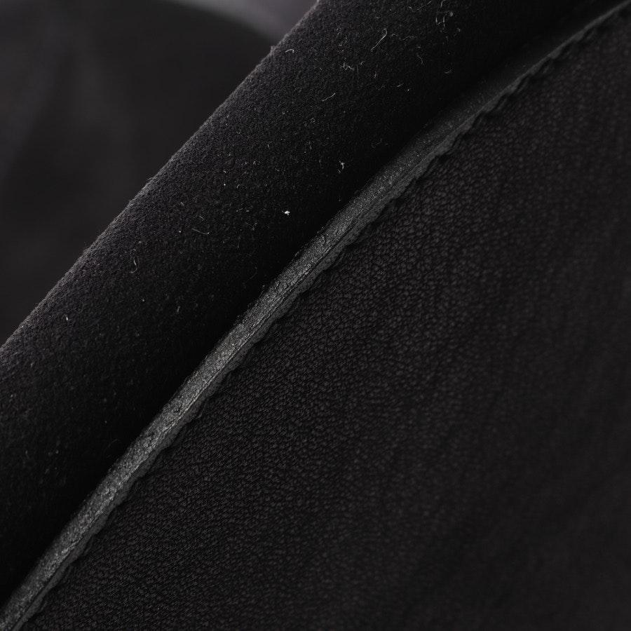 Ledergamaschen von Hermès in Schwarz und Blau Gr. S