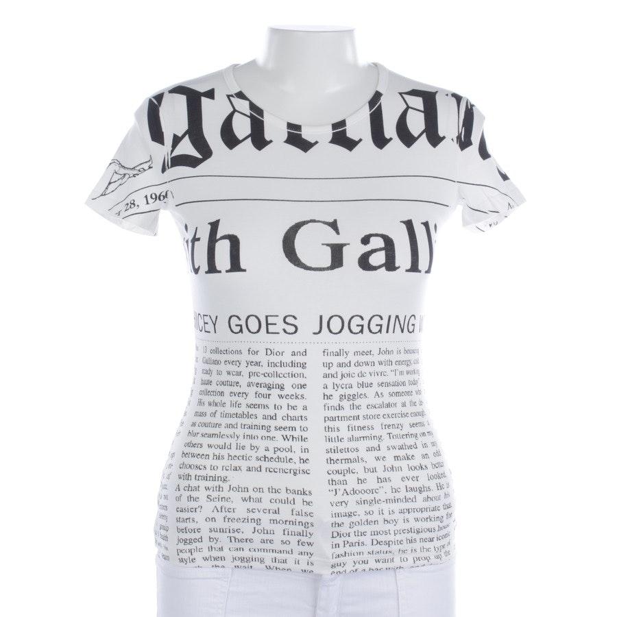 Shirt von John Galliano in Weiß und Schwarz Gr. S - Neu
