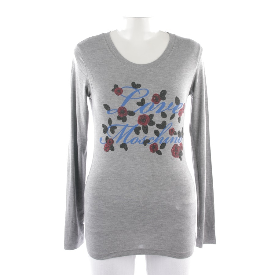 jersey from Love Moschino in grey mottled and multicolor size 38
