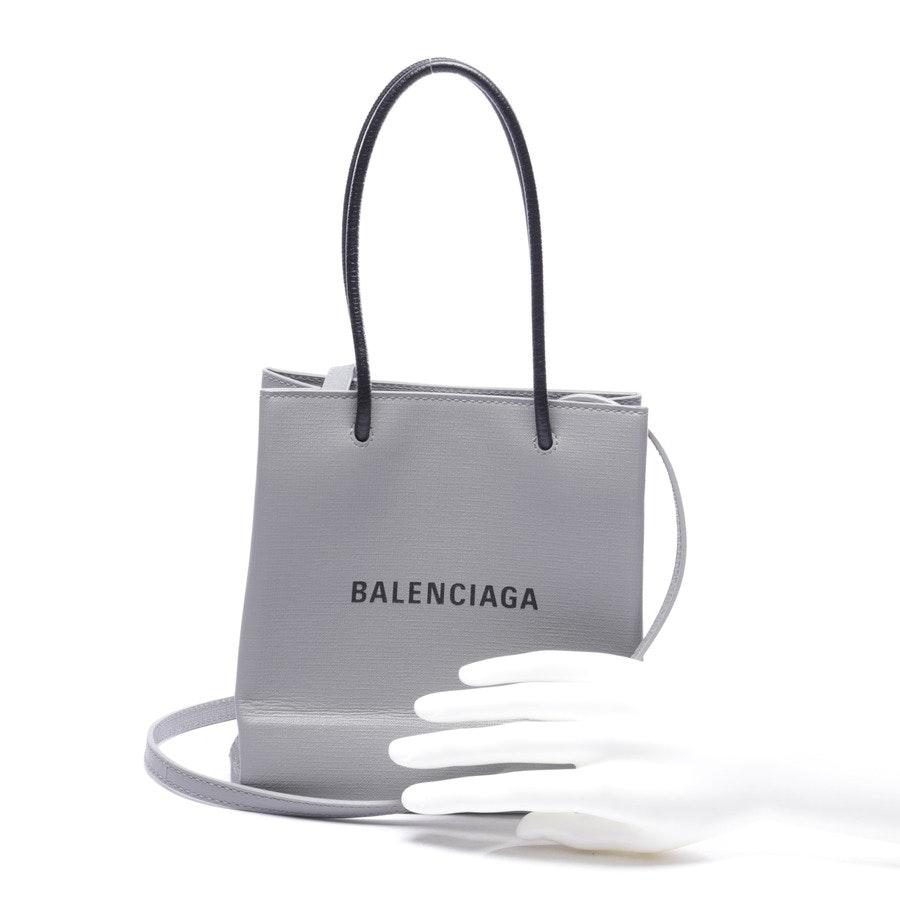 Abendtasche von Balenciaga in Hellgrau und Schwarz